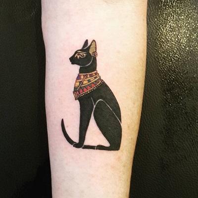 tatuagem de gato egípcio