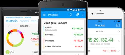 Aplicativo de controle financeiro Mobills