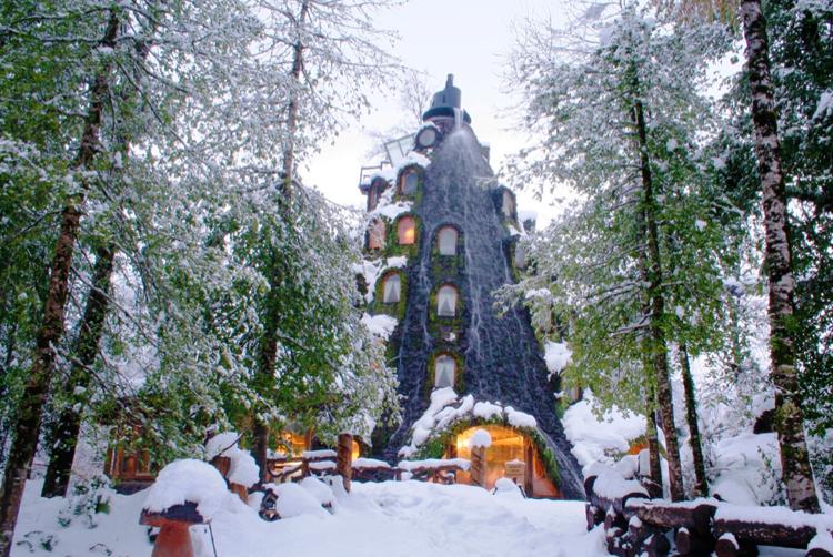 Hotel Montaña Mágica no inverno